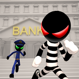 �конка Stickman Bank Robbery Escape