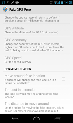 ������� Fake GPS Location Spoofer ��� ������� �������� ��� ��������