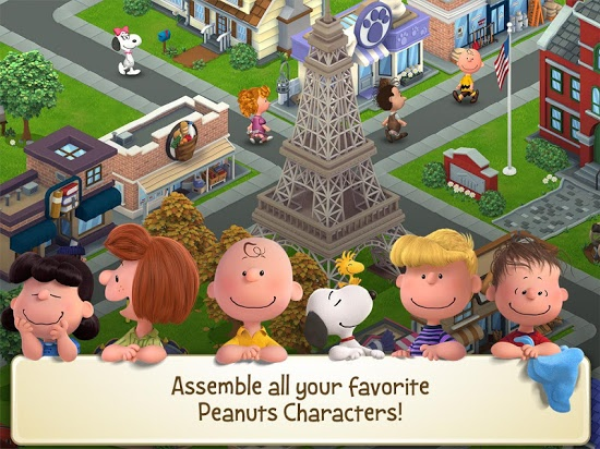 Peanuts: Snoopy's Town Tale картинки из игры